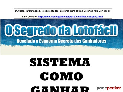 E-book O Real Segredo Da Lotofacil